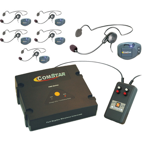 Eartec XT-Plus Com-Center with 6 COMPAK Headsets