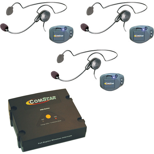 Eartec ComPAK Com-Center and Cyber Headset System (3 Piece)