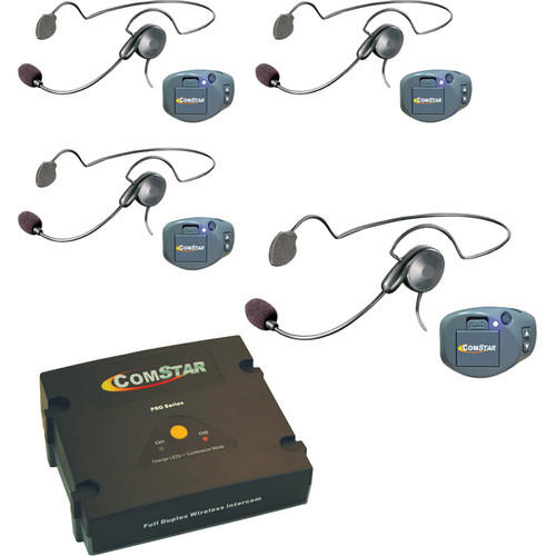 Eartec ComPAK Com-Center and Cyber Headset System (4 Piece)
