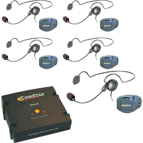 Eartec ComPAK Com-Center and Cyber Headset System (5 Piece)