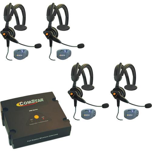 Eartec ComPAK Com-Center and Ultralite CS Headset System (4 Piece)