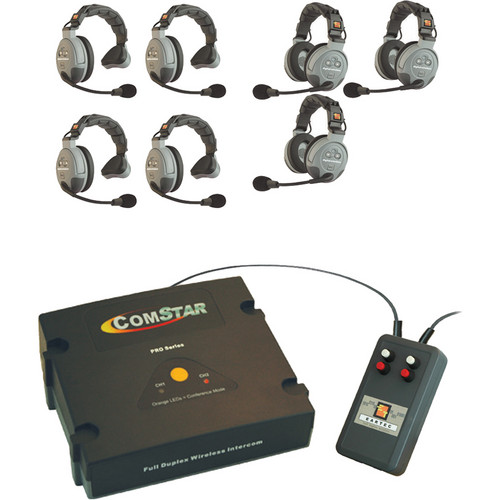 Eartec XT-Plus Com-Center with Interface and 7 COMSTAR Headsets