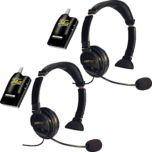 Eartec 2 Simultalk 24G Beltpacks with Lazer Headsets