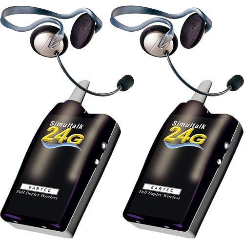Eartec 2 Simultalk 24G Beltpacks with Monarch Headsets
