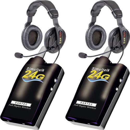Eartec 2 Simultalk 24G Beltpacks with ProLine Double Headsets