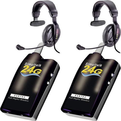Eartec 2 Simultalk 24G Beltpacks with ProLine Single Headsets