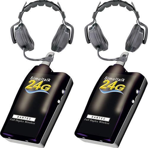 Eartec 2 Simultalk 24G Beltpacks with Ultra Double Headsets