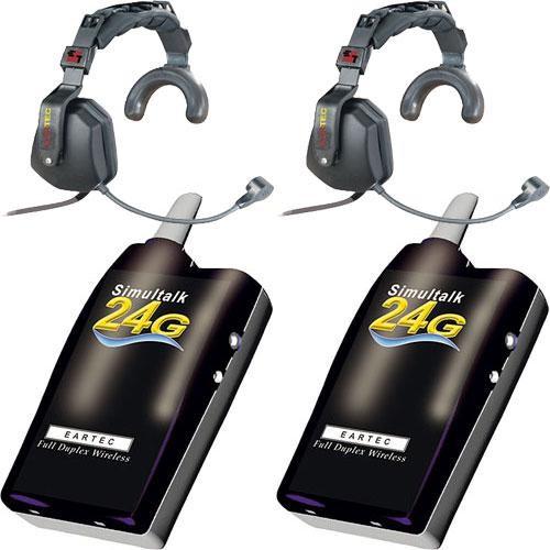 Eartec 2 Simultalk 24G Beltpacks with Ultra Single Headsets