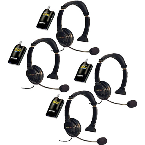 Eartec 4 Simultalk 24G Beltpacks with Lazer Headsets