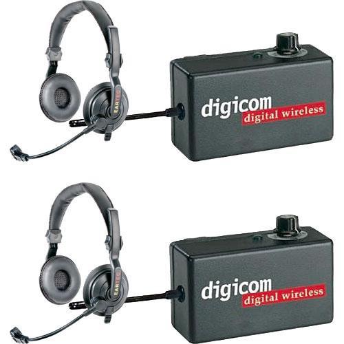 Eartec 2 Digicom Communication Radios w/ SlimLine Double Headsets