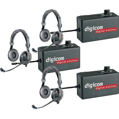 Eartec Digicom Digital Wireless Intercom with Slimline Headsets