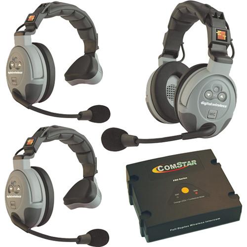 Eartec COMSTAR XT 3-User Full Duplex Wireless Intercom System