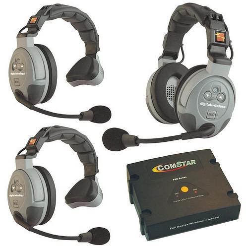 Eartec COMSTAR XT-3 3-User Full Duplex Wireless Intercom System