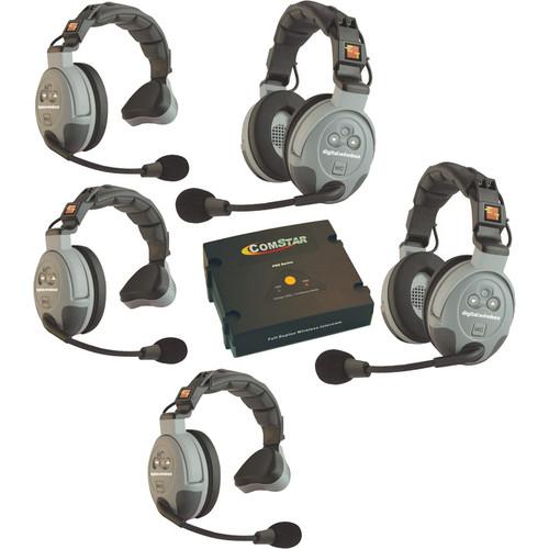 Eartec COMSTAR XT-5 5-User Full Duplex Wireless Intercom System (Australia)