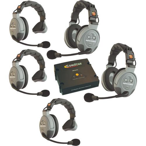 Eartec COMSTAR XT-5 5-User Full Duplex Wireless Intercom System (Europe)