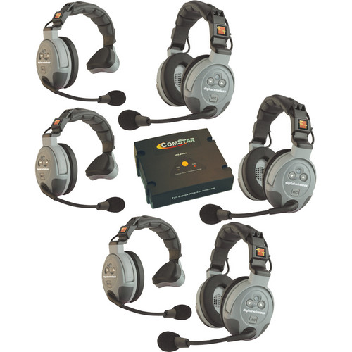Eartec COMSTAR XT 6-User Full Duplex Wireless Intercom System