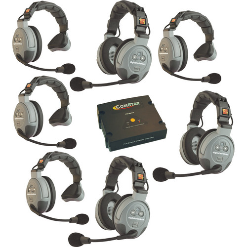 Eartec COMSTAR XT-7 7-User Full Duplex Wireless Intercom System (Australia)