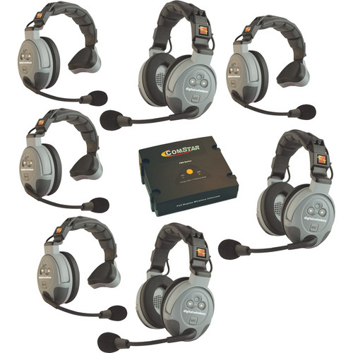 Eartec COMSTAR XT 7-User Full Duplex Wireless Intercom System