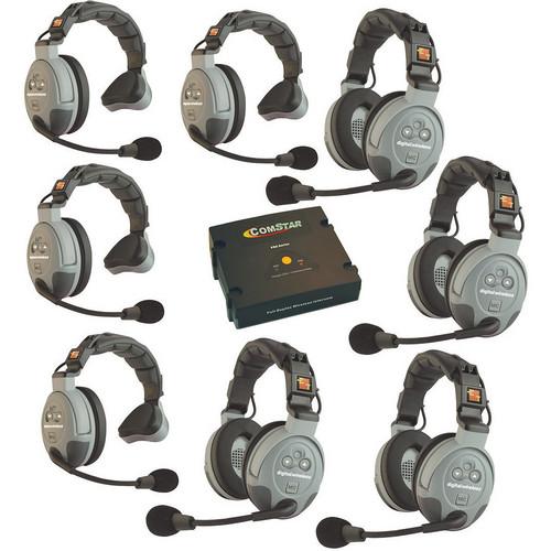 Eartec COMSTAR XT-8 8-User Full Duplex Wireless Intercom System (North America)