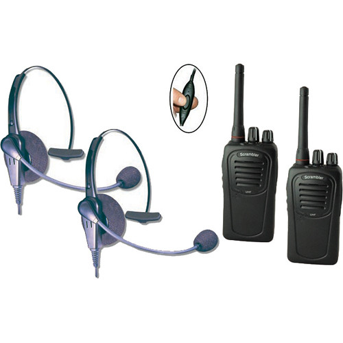Eartec Two-User SC-1000 Two-Way Radio System with Eclipse Inline PTT Headsets