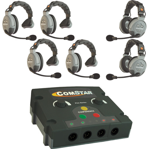 Eartec COMSTAR Flex Max Series 6-User Full Duplex Intercom System