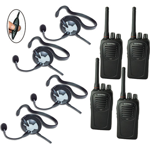 Eartec 4-User SC-1000 Two-Way Radio System with Fusion Inline PTT Headsets