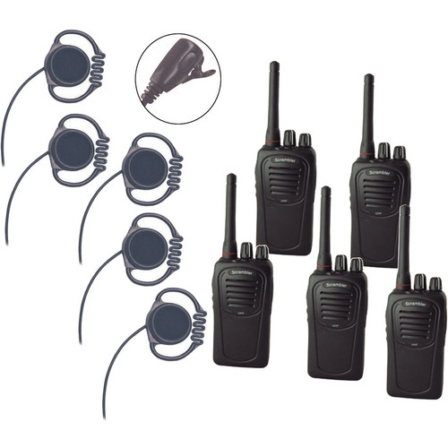 Eartec 5-User SC-1000 Two-Way Radio System with Loop Lapel Mic Headsets