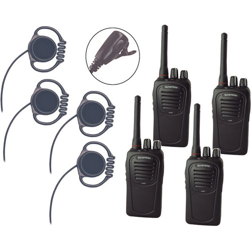 Eartec 4-User SC-1000 Two-Way Radio System with Loop Lapel Mic Headsets