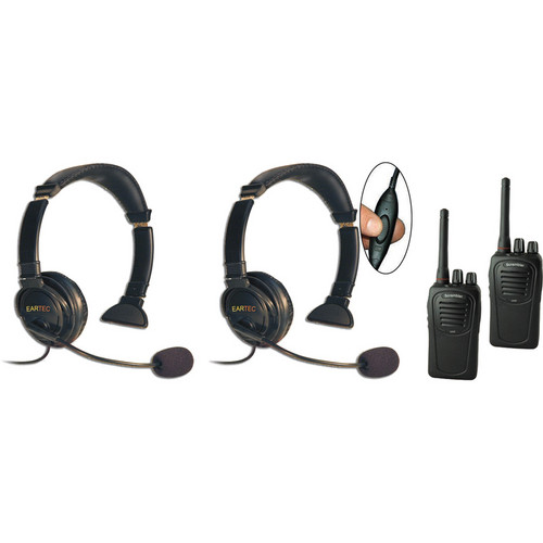 Eartec Two-User SC-1000 Two-Way Radio System with Lazer Inline PTT Headsets