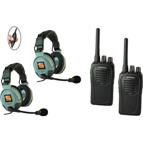 Eartec 2-User SC-1000 Two-Way Radio System with MAX3G Double Inline PTT
