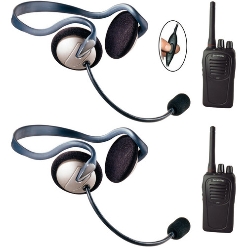 Eartec 2-User SC-1000 Two-Way Radio System with Monarch Inline PTT Headsets