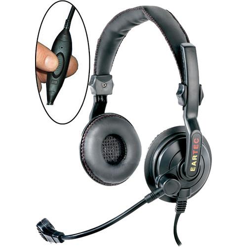 Eartec Slimline Double Inline PTT Headset for SC-1000 Radio Transceiver