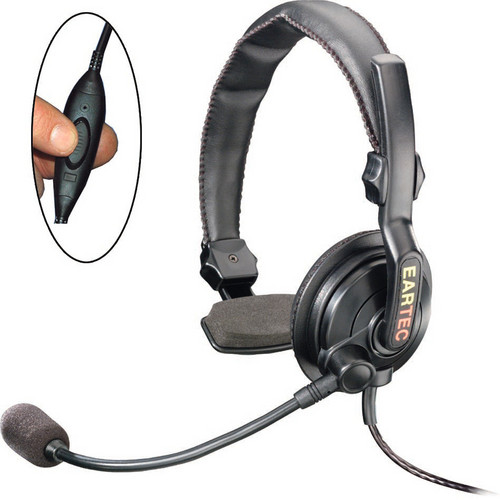Eartec Slimline Single Inline PTT Headset for SC-1000 Radio Transceiver