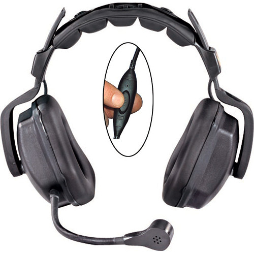 Eartec Ultra Double Inline PTT Headset for SC-1000 Radio Transceiver