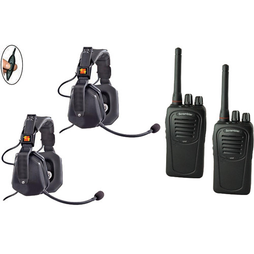 Eartec 2-User SC-1000 Two-Way Radio with Ultra Double Inline PTT Headsets