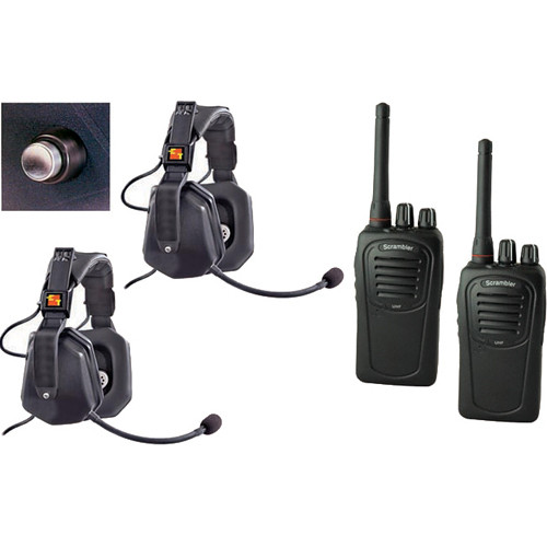 Eartec 2-User SC-1000 Two-Way Radio with Ultra Double Shell Mount PTT Headsets