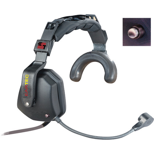 Eartec Ultra Single Shell Mount PTT Headset for SC-1000 Radio Transceiver