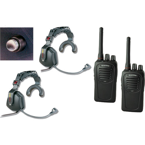 Eartec 2-User SC-1000 2-Way Radio with Ultra Single Shell Mount PTT Headsets