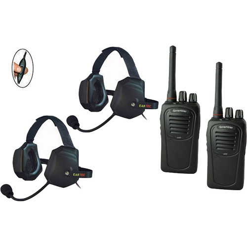 Eartec 2-User SC-1000 Two-Way Radio with XTreme Inline PTT Headsets