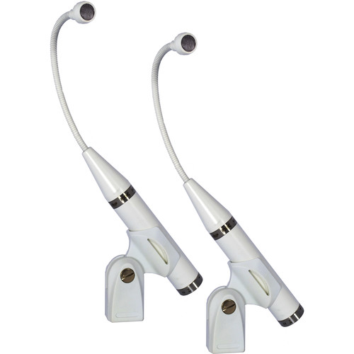 Earthworks Matched Pair P30 Periscope Cardioid Instrument Microphone (White)