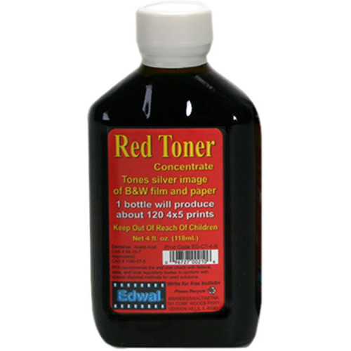 Edwal Toner for Black and White Prints (4 oz, Red)