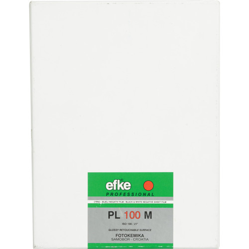 "Efke 5 x 7'"" PL 100M Black and White ISO 100 Negative Film (50 Sheets)"