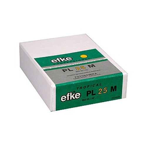 "Efke 2.5 x 3.5"" PL 25M Black and White ISO 25 Negative Film (25 Sheets)"