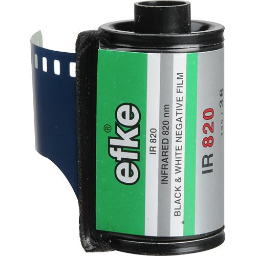 Efke 35mm IR820 Black and White Infrared Film (1 Roll)