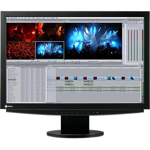 "EIZO FlexScan S2411 24.1"" Widescreen LCD Computer Display with Dual DVI-I Input and USB 2.0 Hub (Black)"