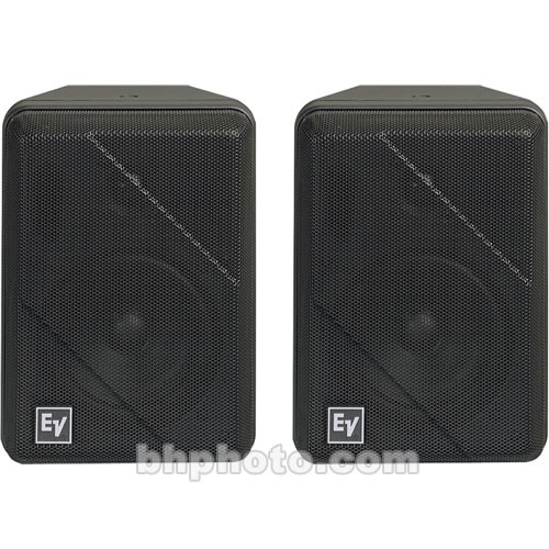 "Electro-Voice S-40 2-Way 5.25"" Short Throw Installation Loudspeaker (Pair, Black)"