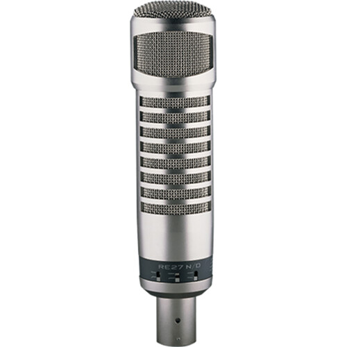 Electro-Voice RE27N/D Broadcast Announcer Microphone with Variable-D and Neodymium Capsule