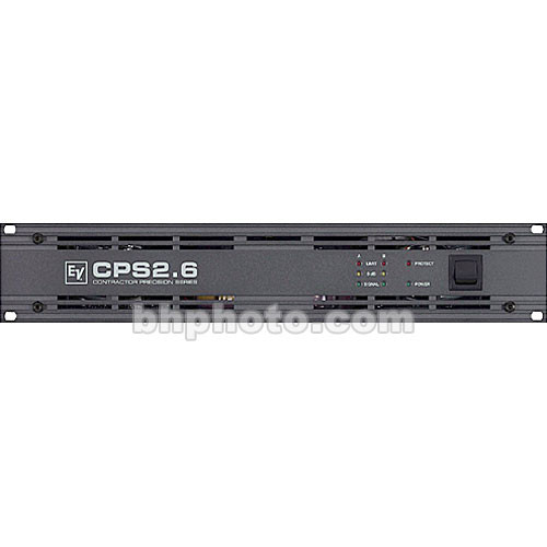Electro-Voice CPS 2.6 - 2-Channel Power Amplifier - 600W per Side at  4 Ohms