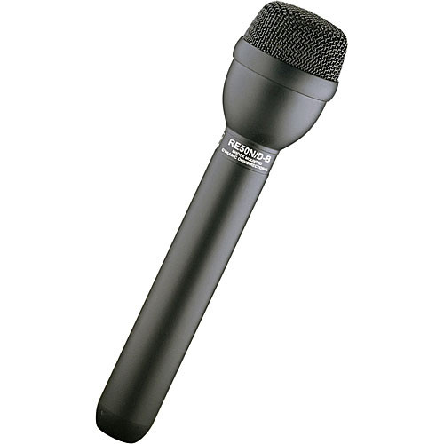 Electro-Voice RE50N/D-B - Omnidirectional Dynamic Shockmounted ENG Microphone with Neodymium Capsule (Black)