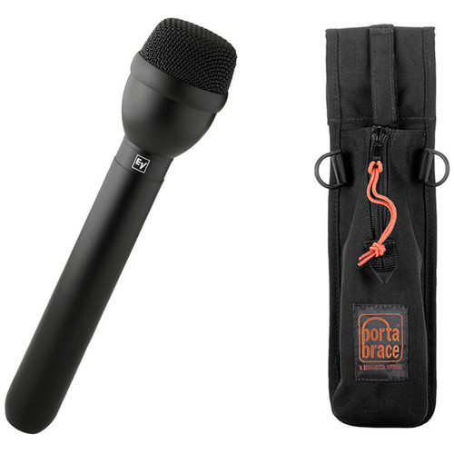 Electro-Voice RE50B Omnidirectional Interview Microphone Kit with Porta Brace Mic Holster